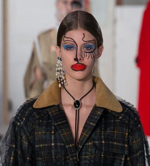 Le maquillage surréaliste chez Margiela