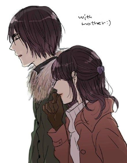 Awww, Hanamiya with mom *_*