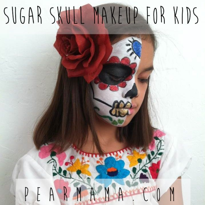 images day of the dead kids | Pearmama: Day of the Dead: Sugar Skull Makeup for Kids