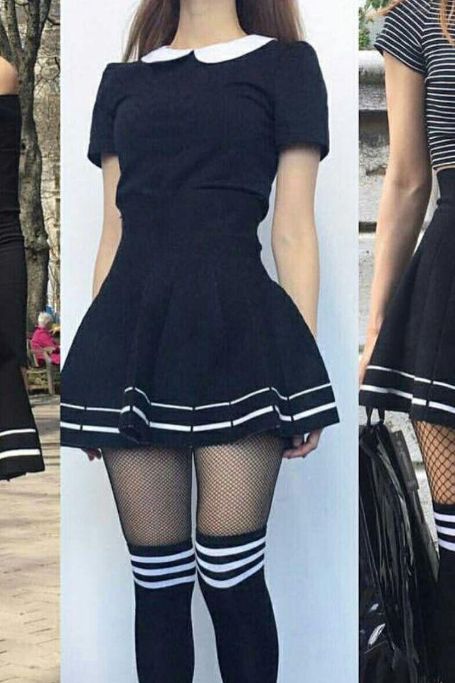 I love this school girl dress