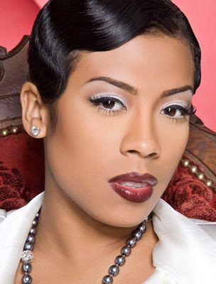Keyshia Cole retro hair / vamp makeup