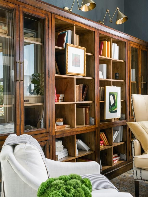 The large modular library bookcase with a two-tone…