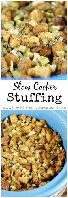 Slow Cooker Stuffing Slow Cooker Stuffing {or Dressing}  wait...  Slow Cooker Stuffing Slow Cooker Stuffing {or Dressing}  wait stuffing in the slow cooker?? You bet! www.thekitchenism http://ift.tt/2zASz9n Recipe : http://ift.tt/1hGiZgA And @ItsNutella  http://ift.tt/2v8iUYW
