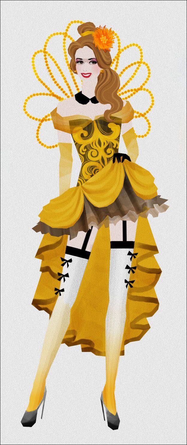 Burlesque Disney Princesses | ムーラン・ルージュ」の踊り子風に描かれた ...