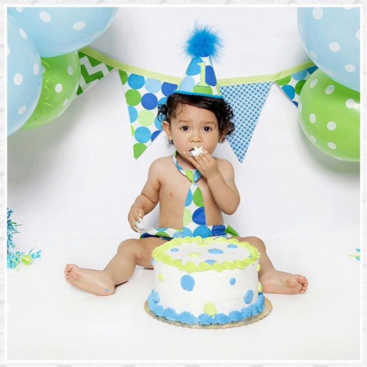 Baby Boys First Birthday Cake Smash Diaper Cover Tie and