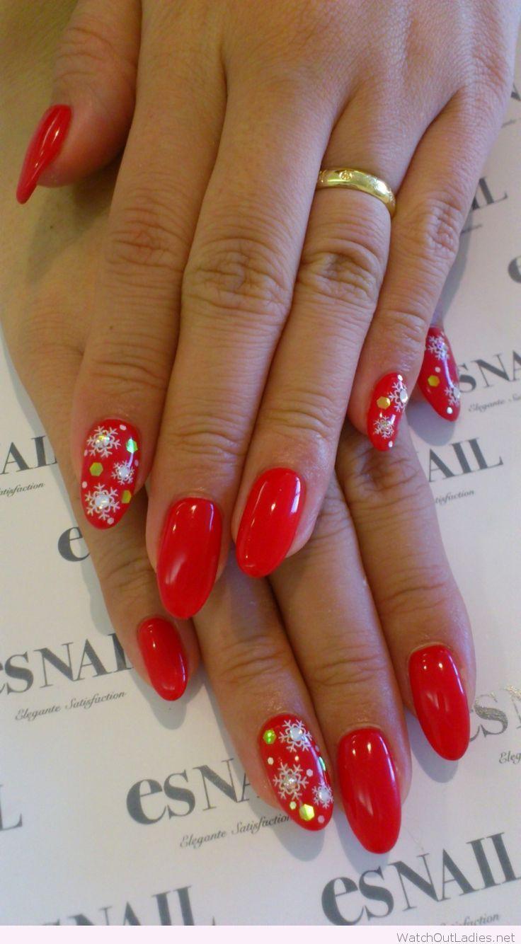 Hot red nail polish for Christmas