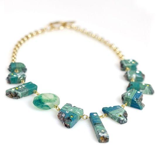 Stone Slice Necklace.