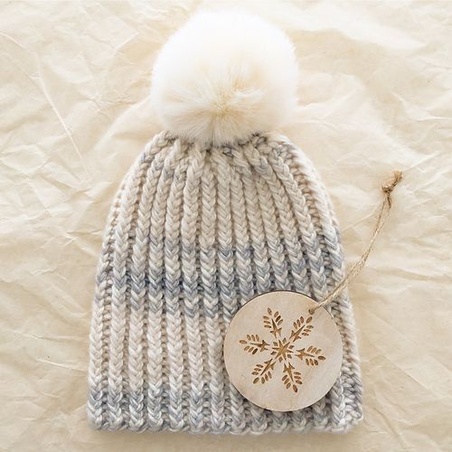 Knit this hat…Quick Like a Snow Bunny! Free pattern