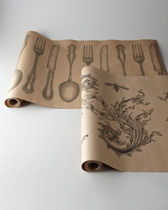 Printed On A Roll Of Brown Wrapping Paper. Yes!. Paper Table Runners