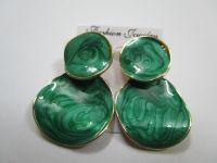 Green fancy earrings