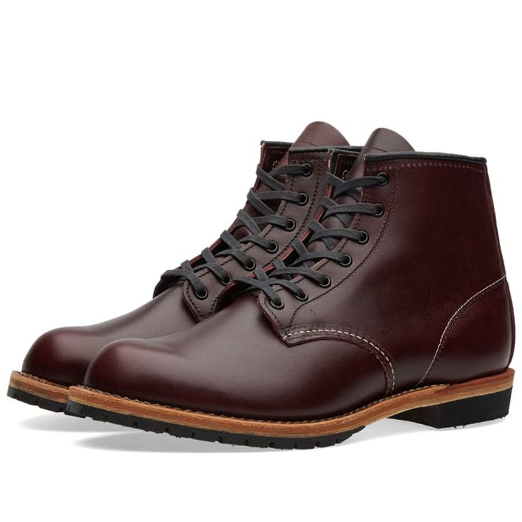 "Red Wing 9011 Beckman 6"" Round Toe Boot (Black Cherry Featherstone) 