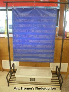 Ikea garment rack=perfect pocket chart stand!                                                                                                                                                     More