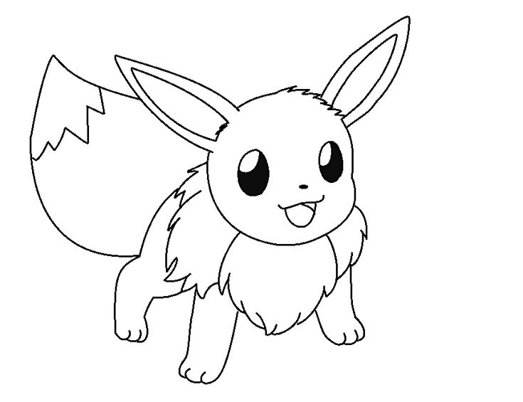Pokemon Coloring Pages Eevee