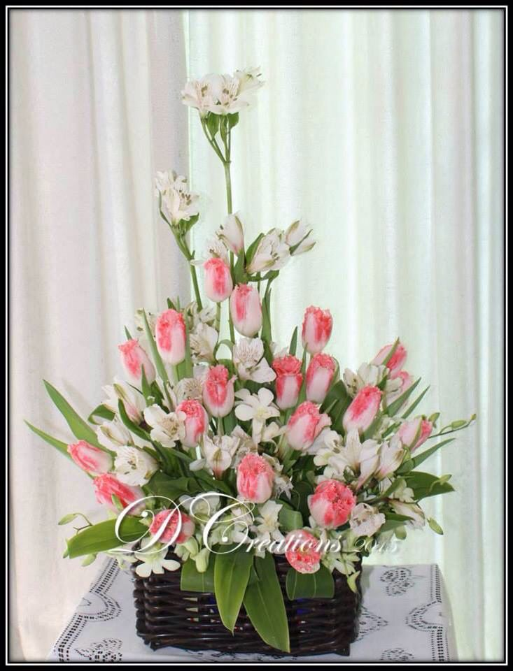 Tulips with Peruvian lilies