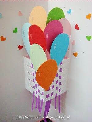 Lin Handmade Greetings Card: Pop Up Cards