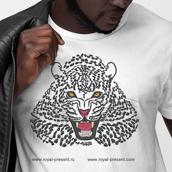Snow Leopard embroidery design - 3 sizes