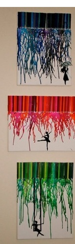 crayon melting silhouettes