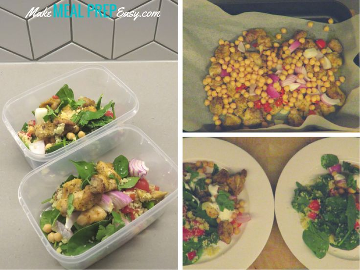 Moroccan Chicken Salad, with Chickpeas