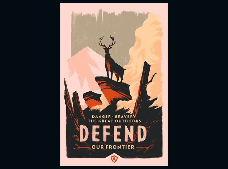 Campo Santo :: Defend, limited run prints screen-prints by Olly Moss inspired by our upcoming video game Firewatch.