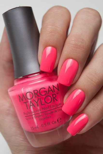 Morgan Taylor Pink Flame-ingo. Not usually my color choice, but I can see it going great as an accent color