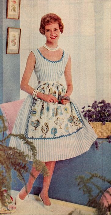 Perfect housewife uniform dress and apron