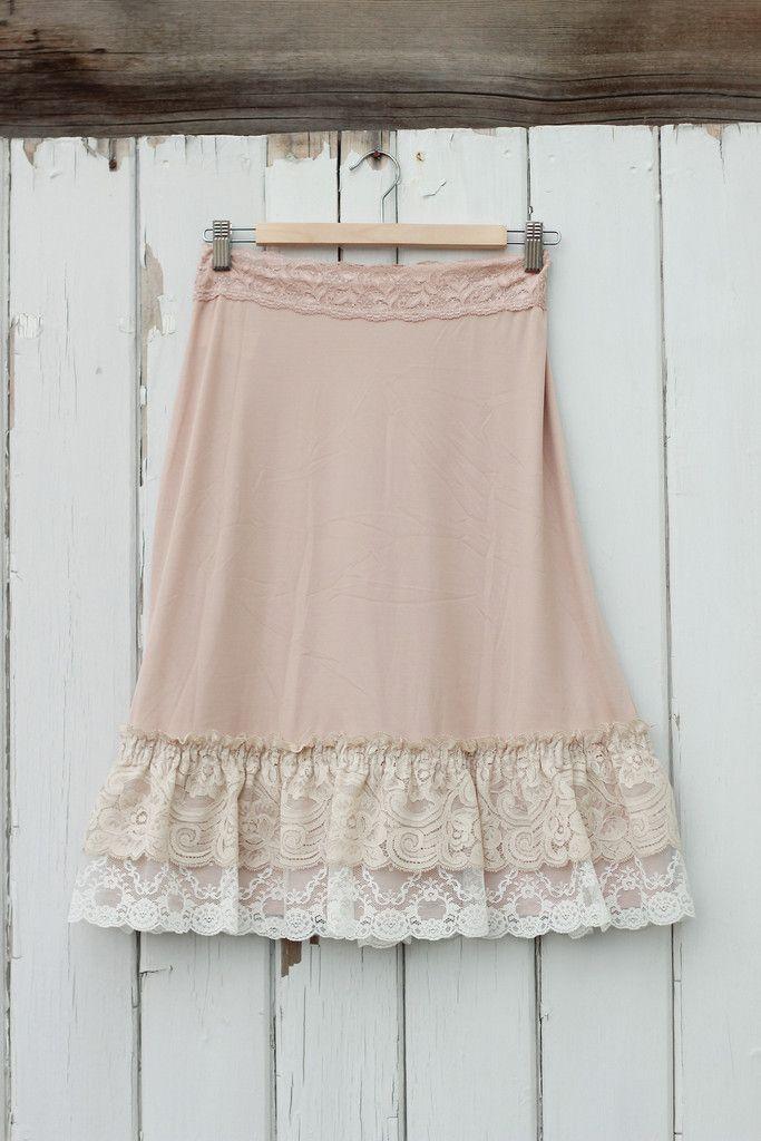 Silky Lace Slip Extender-Beige with Beige