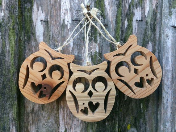 Two-Hearted Owl Ornaments by theLambandtheBear on Etsy