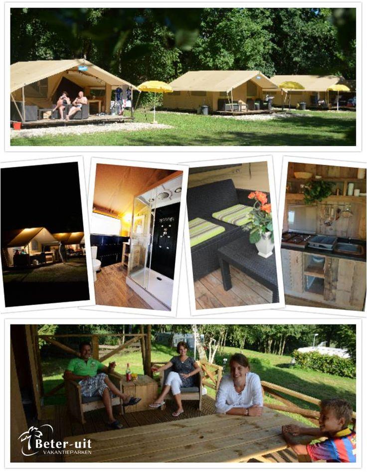 Nieuw op vakantiepark Walsdorf: Glamping, 'glamorous camping'. Dé trend op kampeergebied. Geniet van een luxe lodgetent, met eigen sanitaire voorzieningen, maar wel betaalbaar!