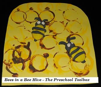 Recycled Bottle Cap Beehive Craft for #Kids #preschool #education