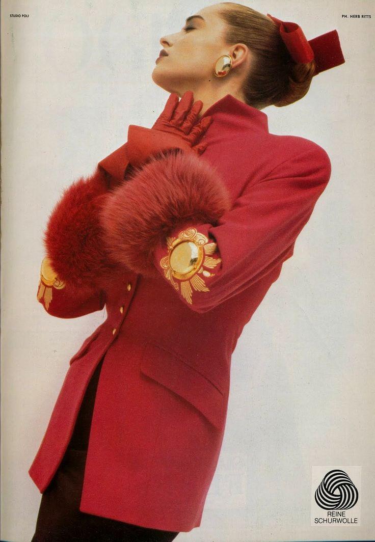 Tatjana Patitz for Gianfranco Ferre A\ W 1987 by Herb Ritts