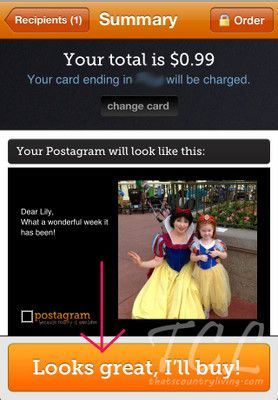 Postagram App...cheaper (and so much cooler) than a regular post card!