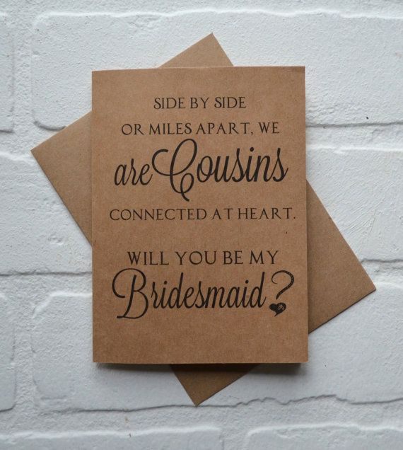 Will you be my BRIDESMAID SIDE by side or by invitesbythisandthat