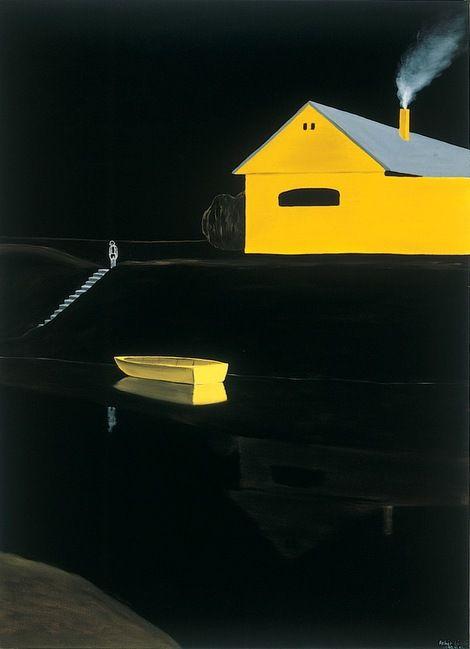 László Fehér, Yellow Boat  on ArtStack #laszlo-feher #art