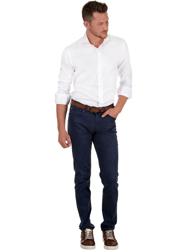 White shirt elegant fabric Dobby Cotton Delsiena