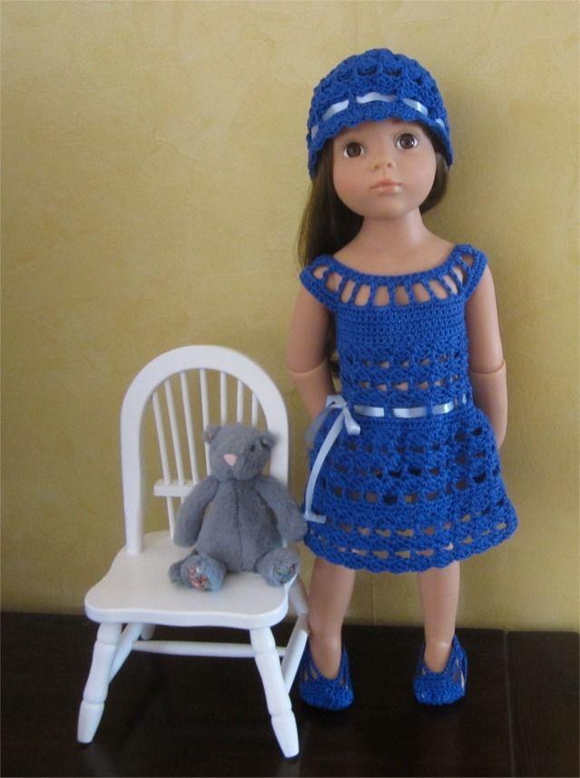 76- FICHE PATRON CROCHET Tenue Alicia pour poupée Hannah de GOTZ : Jeux, jouets par atelier-crochet