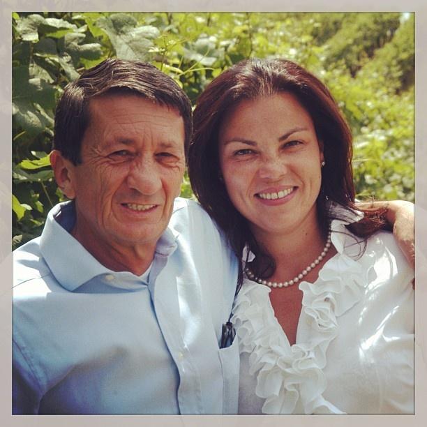 "@roncocalino's photo: ""Paolo e Lara Radici, i pilastri di Ronco Calino. @paolorhodes #franciacorta #proprietario #owner #vigna #vine #vineyards #vino #wine #winery #vinicola #marrid #sposi #uomo #donna #man #woman #lovewine #instawine #love #winelovers #instapic #italy #italia #lombardia #brescia"""