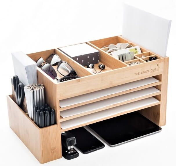 The New Look of Organisation. The space cube in bamboo  https://www.thespacecube.com/