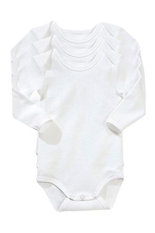 Vertbaudet Body med lange ermer, for baby 3pk. 129,-