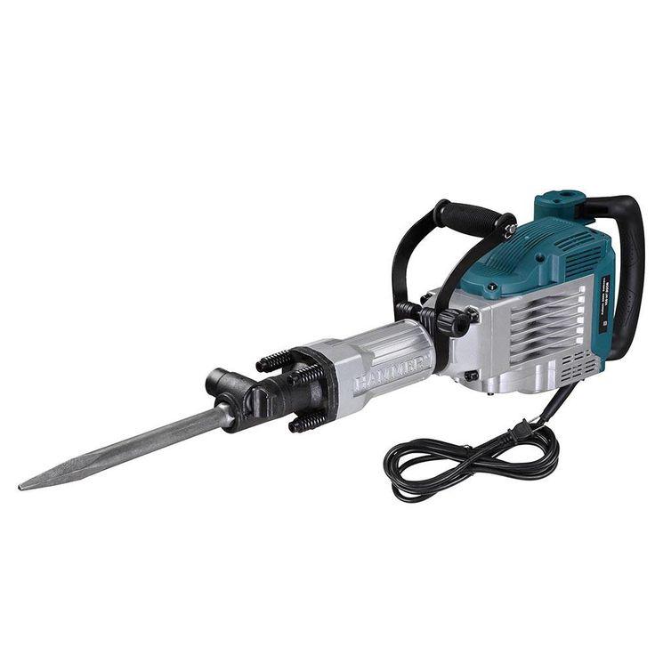 3600w Electric Jack Hammer Point & Flat Chisel Kit w/ Case