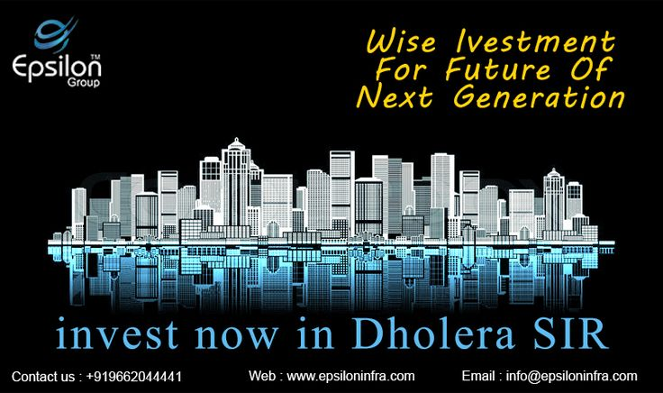 Epsilon InfraProjects give you best solution for your investment.. Do Invest now and get high return of Residential plot booking inside Dholera SIR. We gives you best option with best location Option .. visit us on www.epsiloninfra.com and will get back to you ....