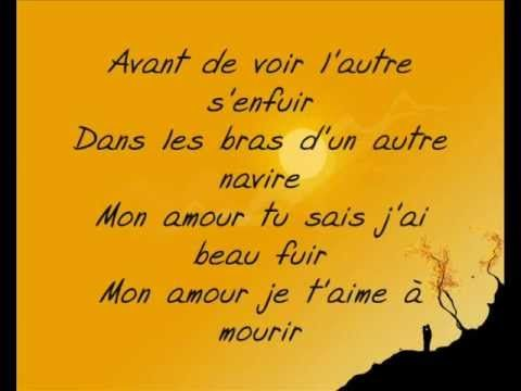▶ Aux encres des amours - Saez (Paroles) - YouTube