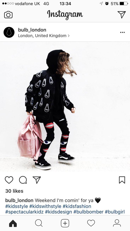 Kids clothing. Bulb London. Kids fashion. Punk. Rock.