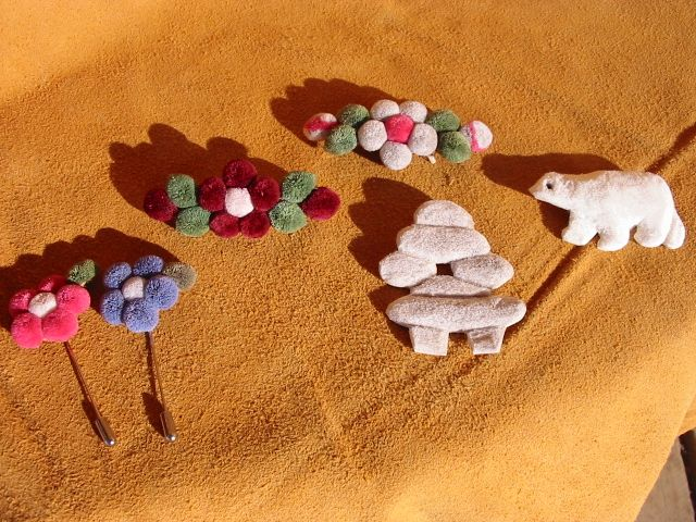 Caribou Tufting | Caribou Hair Tufted Brooches