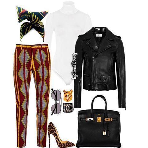 🐛EthNic Chic🐛 Bodysuit:#Wolford Jacket:#SaintLaurent Shoes:#ChristianLouboutin Bag:#Hermes Pants:#Topman Turban:#ShopFeline Glasses:#Dior Bracelets:#Balmain #Chanel --------------------------------------- #StyledByDemi #StyledByDemiDorsey #ootd #ootn #fashion #style #stylist #fashionstylist #fashionista #instastyle #instafashion #dope #fly #sexy #chic #cool #streetstyle #fashionblogger