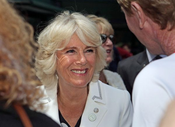 Camilla Parker Bowles Photos - Camilla, Duchess of Cornwall smiles during a visit to the Lawn Tennis Championships at the All England Lawn Tennis Club on June 30, 2016 in London, England. - Day Four: The Championships - Wimbledon 2016