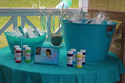 Under The Sea Mermaid Birthday Party: Party Favor Table