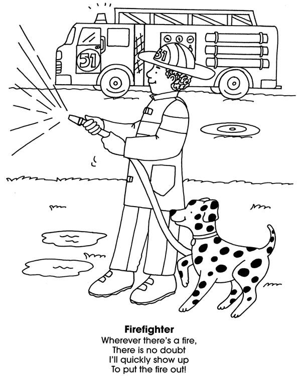 Firefighter Coloring Pages: Firefighter Coloring Page