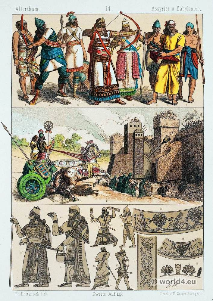 Babylonians and Assyrians military costumes