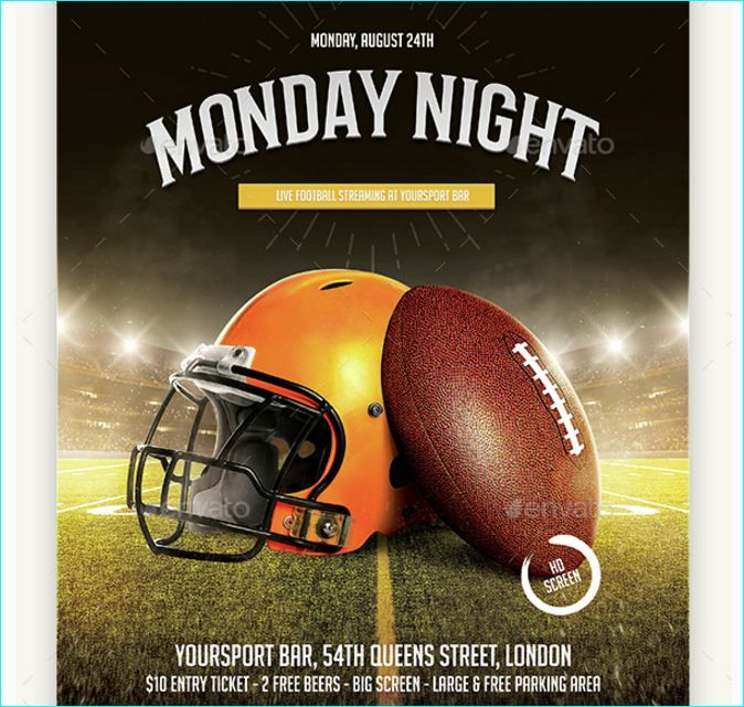 American Football Flyer Template - Party Flyer Templates For Clubs Business & Marketing