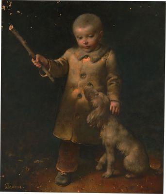 Мальчик с собакой - Rimaszewski Siergiej